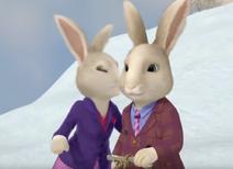 Mrs. Bobtail kisses DR. Bobtail