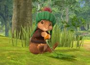 Benjamin Bunny Eating A Carrot
