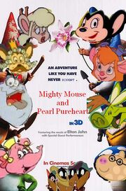 Mighty Mouse and Pearl Pureheart (Gnomeo and Juliet) Poster