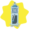 Cinderella castle grandfather clock