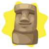 Easter island statue decor