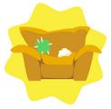 Worn Yellow Armchair