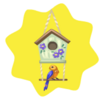 Country birdhouse decor