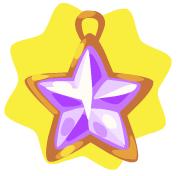 Purple star ornament
