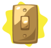 Golden light switch