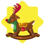 Toy shop rocking reindeer