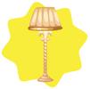 Restaurant standing lamp