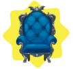 Blue vampire throne