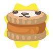 Brown petling biscuit