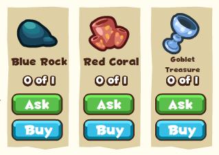 Mermaid kingdom treasure materials