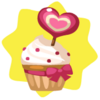 Valentine strawberry cupcake