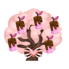 Pink chocoberry tree