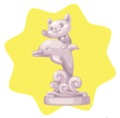 Happy Dolphin Statue