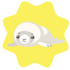 Baby seal doll