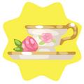Garden party teacup