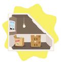 Dolls house attic storage