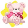 Valentine big adorable bear