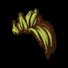 Apple-green-on-brown