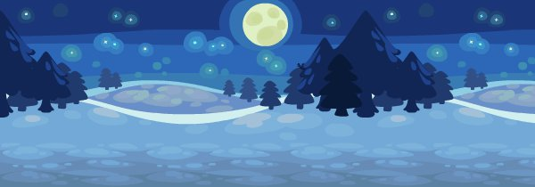 Starry Winter Night Wallpaper Expanded