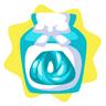 Aquamarine wig dye