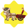 Farm baby donkey cart