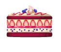 Red velvet berry cake
