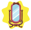 Rosy cute mirror