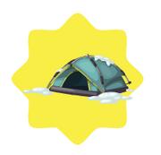 Blue Winter Tent