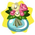 Hospital pink flower vase