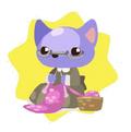 Granny cat doll