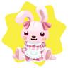 Farm bunny plushie