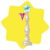 White carnival lamp post