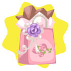 Pink party gift bag