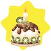 Kiwi birthday minicake