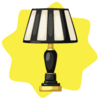 Vintage striped table lamp