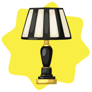 File:Vintage Striped Table Lamp.png