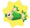 Green pencil fish