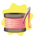 Pink Thread Seat