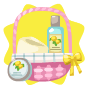 Pink gift basket