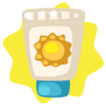 Tube of sunscreen