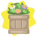 Spring flowers planter