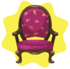 Purple regal chair