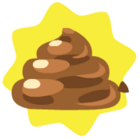 Brown balloon poo