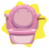 Rapunzel princess toilet