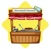 Okonomiyaki takeaway stand
