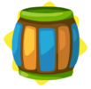 Carnival wooden barrel
