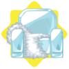 Icy armchair