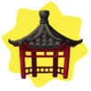 Chinese garden pagoda