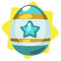 Turquoise easter egg