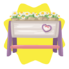 Valentine flower box